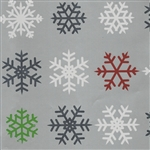 Gift Wrap Colourful Snowflakes Christmas Pattern