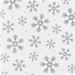 Gift Wrap Silver Snowflakes Christmas Pattern