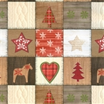 Gift Wrap Christmas Paper - Quilted Holidays