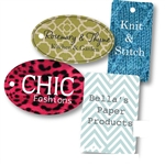 Custom Full Color Digital Tags no Strings-Medium & Large Shapes