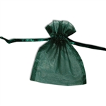 Organza bags Hunter Green