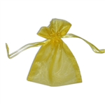Organza bags Yellow