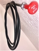 "Universal Stop Cable CC66 PTSTOP Red knob 72"" cable"