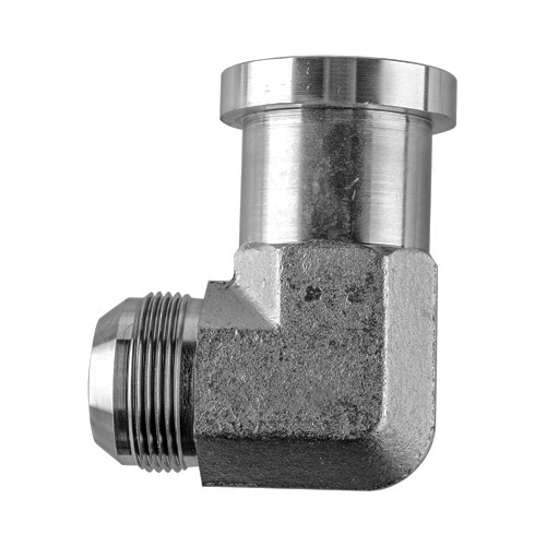 1704-12-12 code 61 hydraulic adapter 3//4 male jic x 3//4 code 61 flange 90 deg
