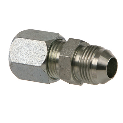 Straight Adapter 5 Units 1//4 in Male JIC 37/° Flare x 1//4 in Female Japanese Industrial Standard 30/° Flare Brennan