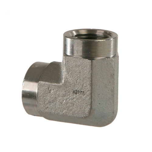 5504-06-04 Hydraulic Fitting 3//8 Female Pipe X 1//4 Female Pipe 90 Degree Carbon Steel
