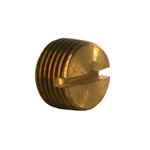 Slotted Head Pipe Plug, NPTF Brass Fitting