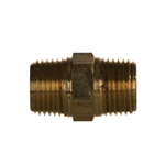 NPTF Pipe Male x NPTF Pipe Male Brass Fitting
