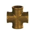 NPTF Pipe Female Cross Brass Fitting