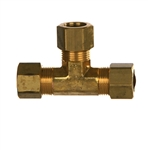 Compression Tube Union Tee Brass Fitting