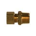 Compression Tube x NPTF Pipe Male Brass Fitting