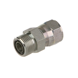 3//8 in Male O-Ring Boss x 1//4 in Male Flat Face O-Ring Brennan Straight Adapter Steel 20 Units