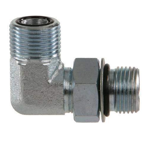 37/° JIC SAE Flare Male x SAE O-Ring Boss ORB Male 90/° Elbow 6801-06-06