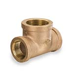 SC-36BT1L | Lead-Free Brass 125# Threaded Bull Head Tee, UL