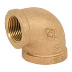 SC-36E-1L | Lead-Free Brass 125# Threaded 90° Elbow, UL