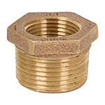 SC-36HB1L | Lead-Free Brass 125# Threaded hex Bushing, UL