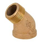 SC-36SF1 | Bronze 125# Threaded 45° Street Elbow, UL