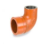 SC-65AE | Grooved Adapter Elbow, Grooved x Threaded Orange Paint Coating UL/FM - 65AE