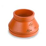 SC-65CR | Grooved Concentric Reducer Orange Paint Coating - 65CR