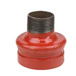 SC-65CRT | Grooved Concentric Reducer Male NPT Orange Paint Coating - 65CRT