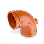 SC-65DE | Grooved Drain Elbow Standard Radius Orange Paint Coating UL/FM - 65DE