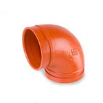 SC-65ES | Grooved 90° Elbow Short Radius Orange Paint Coating UL/FM–65ES