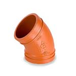 SC-65F | Grooved 45° Elbow Standard Radius Orange Paint Coating UL/FM–65F