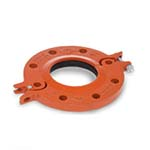 SC-65FHN | Hinged Flange Adaptor T - Nitrile Gasket Orange Paint Housing UL/FM - 65FHN