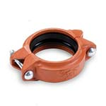 SC-65LFTRI | Lightweight Fle x ible Coupling with EPDM Triple Seal Gasket Orange Paint Housing UL/FM - 65LFTRI