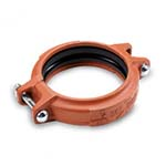 SC-65LRTRI | Lightweight Rigid Coupling with EPDM Triple Seal Gasket Orange Paint Housing UL/FM - 65LFTRI