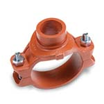 SC-65MG | Grooved Mechanical Tee Grooved Outlet Orange Paint UL/FM - 65MG