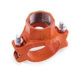 SC-65MT | Grooved Mechanical Tee Threaded Outlet Orange Paint UL/FM - 65MT