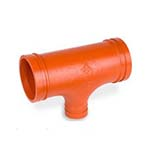 SC-65RT | Grooved Reducing Tee Orange Paint Coating - 66RT