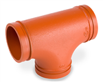 Grooved Tee Standard Radius Orange Paint Coating