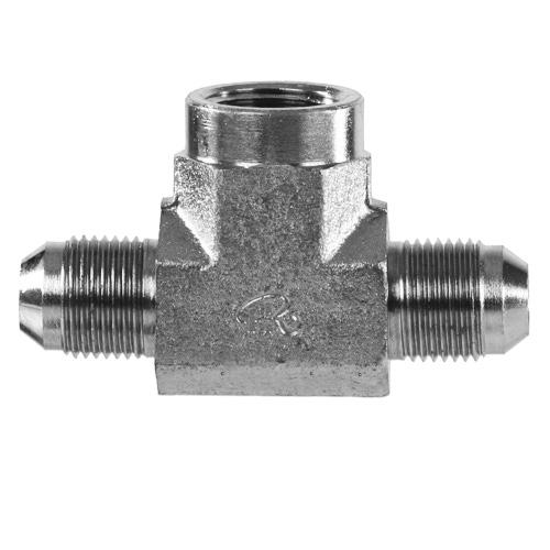 "2602-06-06-06 Hydraulic Adapter 3//8"" Male JIC X 3//8"" Male JIC X 3//8"" Female Pipe"