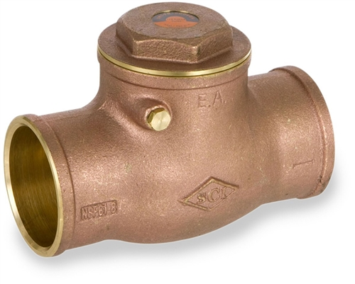 Smith-Cooper International 9191 Series Brass Swing Check Valve Non-Potable Water Use Only 3//4 NPT Female