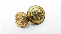 Blazer Button 102 - 2 Sizes (Golden Shiny Finish) - in Pack