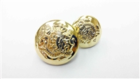 Blazer Button 106 - 2 Sizes (Golden Shiny Finish) - in Pack