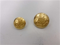 Blazer Button 109 - 2 Sizes (Golden Shiny Finish) - in Pack