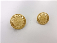 Blazer Button 114 - 2 Sizes (Golden Shiny Finish) - in Pack