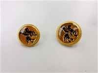 Blazer Button 116 - 2 Sizes (Horse Rider on Golden Background) - in Pack