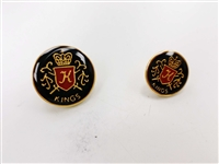 Blazer Button 126 - 2 Sizes (Red, Golden Shield on Black Background) - in Pack