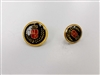 Blazer Button 129 - 2 Sizes (Red, Golden Shield on Black Background) - in Pack