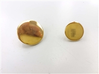Blazer Button 131 - 2 Sizes (Plain Golden Finish) - in Pack