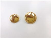 Blazer Button 132 - 2 Sizes (Plain Golden Finish) - in Pack