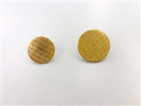 Blazer Button 133 - 2 Sizes (Golden Pattern Finish) - in Pack