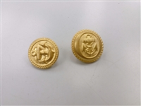 Blazer Button 134 - 2 Sizes (Golden Anchor Matt Finish) - in Pack