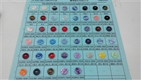 Solid Colour Polyester Button Color Chart