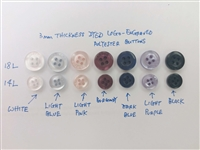 Dyed Logo-engraved Polyester Shirt Buttons