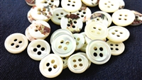 Trocas Shirt Buttons - White, 4-Hole, Normal Thickness